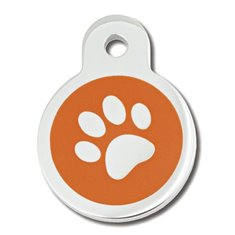 PetScribe ID-Bricka Liten Cirkel Orange Tass Epoxy
