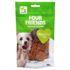 FourFriends Dog Chicken & Liver Chip 100 g