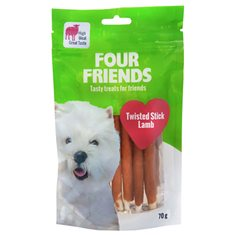 FourFriends Dog Twisted Stick Lamb L 12,5 cm 7 st