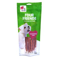 FourFriends Dog Twisted Stick Lamb S 25 cm 5 st