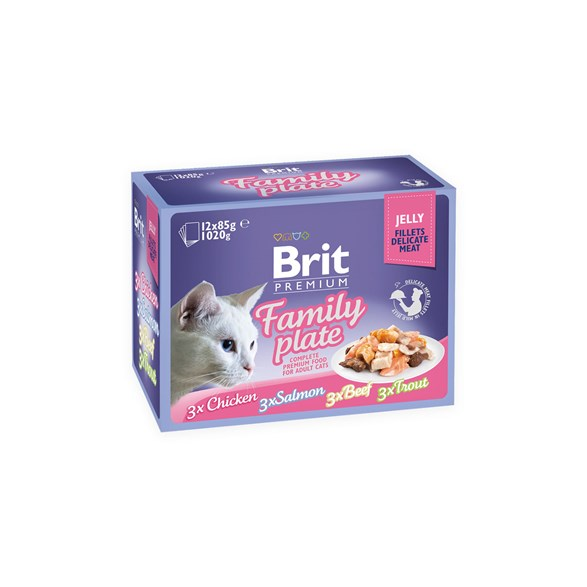 Brit Premium Pouches Fillets in Jelly Multipack 12x85 g