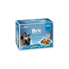 Brit Premium Pouches Fillets in Gravy Multipack 12x85 g