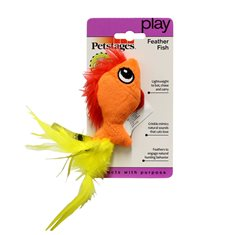 Petstages Feather Fish 15 cm