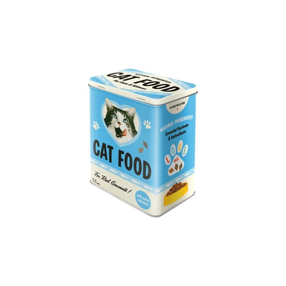 "Nostalgic Art Plåtburk ""Cat food"" 3 L"