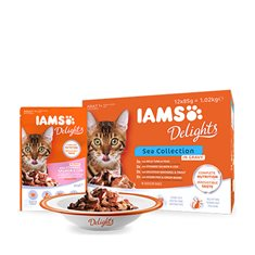 Iams Delights gravy Sea