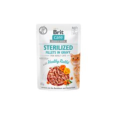 Brit Care Cat Pouch Fillets Gravy Rabbit Sterilized