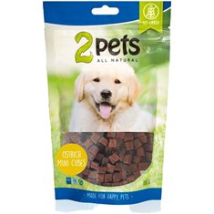2pets Dogsnack Ostrich/Struts MiniCubes