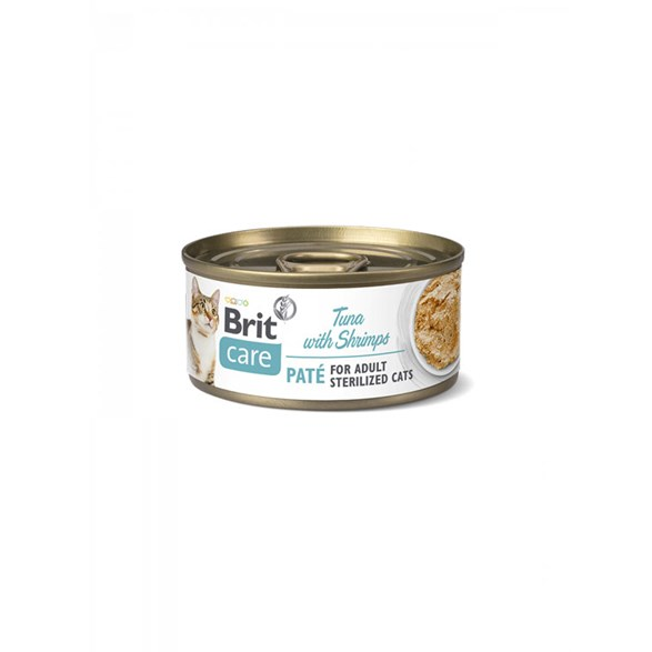 Brit Care Cat Cans for Sterilized Tuna Paté & Shrimps
