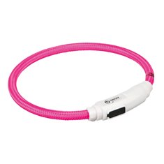Trixie Flash light ring USB katt rosa