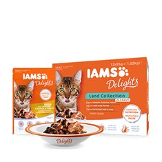 Iams Delights Land Collection in Gravy Multipack