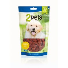2pets Dogsnack Ostrich Cubes