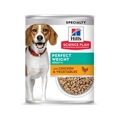 Hill's Sience Plan Canine Perfect Weight Chicken&Vegetables Våtfoder Burk