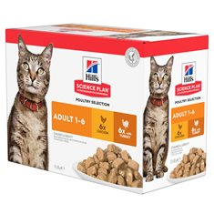 Hill's Sience Plan Feline Adult Chicken & Turkey Multipack