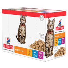 Hill's Sience Plan Feline Adult Chicken, Beef & Ocean Fish Multipack