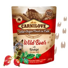 Carnilove Dog Pouch Wild Boar with Rosehips Paté