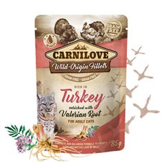 Carnilove Cat Pouch Turkey enriched with Valerian