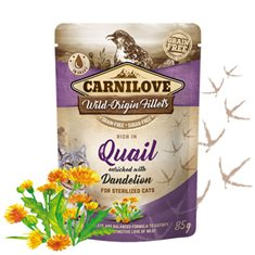 Carnilove Cat Pouch Quail enriched with Dandelion for sterilized cats