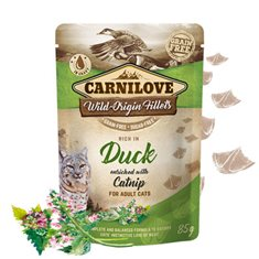 Carnilove Cat Pouch Duck enriched with Catnip