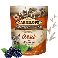 Carnilove Dog Pouch Ostrich with Blackberries Paté