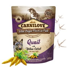 Carnilove Dog Pouch Quail with Yellow Carrot Paté