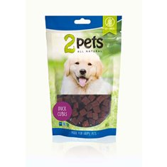 2pets 2pets Dogsnack Duck Cubes 100 g